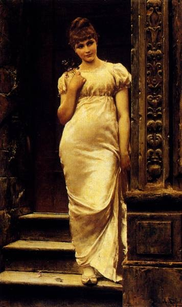 A Young Beauty In A Doorway